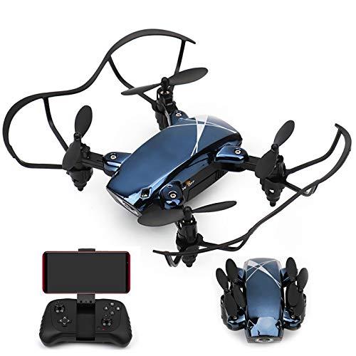 tyuiop Drone Plegable, Cuadricóptero RC Altura Fija de Presión de Aire Transmisión WiFi En Tiempo Real Modo Sin Cabeza Una Parada de Emergencia Clave, Control de Aplicaciones