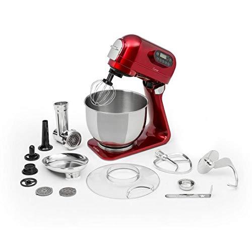 Klarstein Curve Plus robot de cocina - Mezcladora de 5 litros, Picadora de carne 4 en 1,...