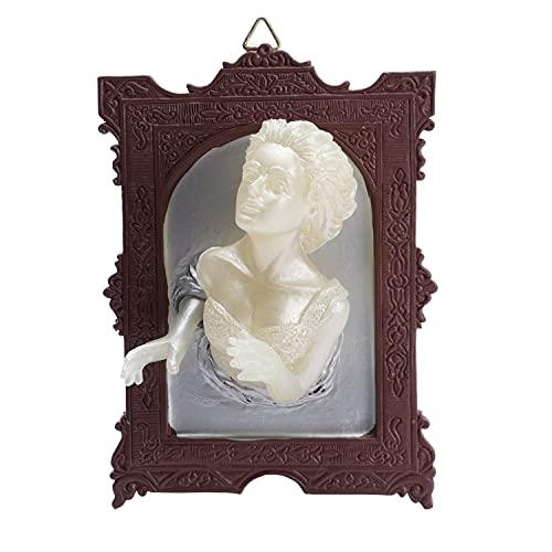 Wandskulptur, 3D Ghost in The Mirror Wandskulpturen, die im Dunkeln leuchten Mann Frau Wandkunst Viktorianische Gothic Spook Wandskulpturen für Wohnkultur (Stil 2)