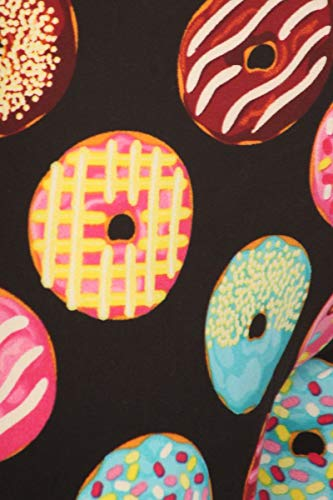 Leggings Depot PJ10-R993-M Donut Party Print Pajama Pants, Medium