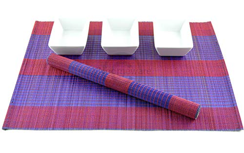 6 faite à la main en bambou Sets de table, sets de table, Lot de 6, Taupe, P060 filtre