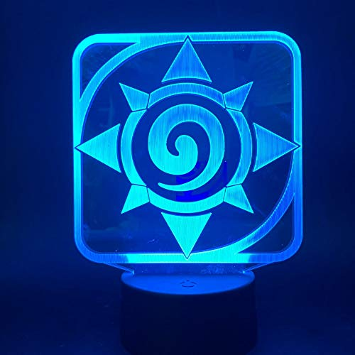 3d Led Nachtlicht Lampe Spiel Hearthstone Kinder Schlafzimmer Nachtlicht Touch Sensor Farbwechsel Tischlampe Nacht Drop Dropping Schlafzimmer Dekoration
