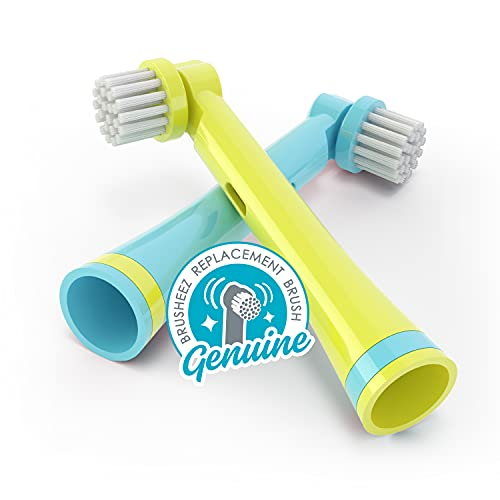 Brusheez Electronic Toothbrush Replacement Brush Heads 2 Pack (Ollie the Elephant)