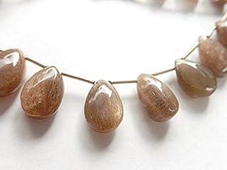 BEADS GEMSTONE Sunstone Gemstone Drop. Smooth 11-14mm. Semi Precious Gemstone 10 pcs Code-HIGH-67899