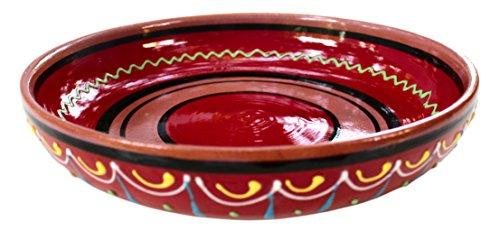 Terrakotta Rot, Servieren Schüssel–Hand aus Spanien