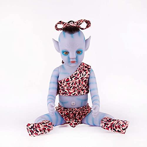 GYLMXF Avatar Cute Boy Born Doll Simulación Bebé Realista Silicona Suave Muñeca Recién Nacida Muñeca de Renacimiento Hecha A Mano Juguetes de Compañero para Niños Regalos, 55CM