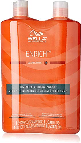 Wella Enrich Shampoo & Conditioner Coarse Hair Duo 33.8 Oz Original Formula