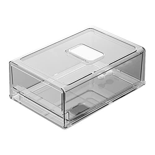 Haowen Frigorifero Conservazione Fresca Congelatore Cassetto Durevole Scatola portaoggetti da Cucina Trasparente 30 * 20,6 * 11,5 cm