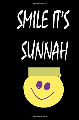 smile it's sunnah: Smile islamic Notebook Gift for Muslim Students and Teachers – Ideal Islamic  blanc lines with 120 Pages 6 x 9