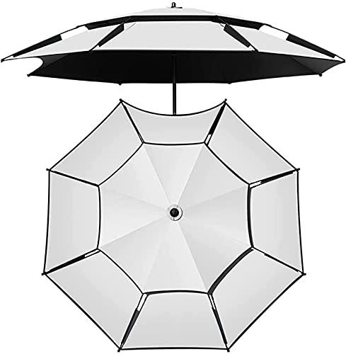 HUYEERDF Ombrelloni da spiaggia antivento Ombrelloni portatili Spiaggia da sole ombrelloni con ancoraggio di sabbia, protezione UV e Documentazione di ventilazione DoubleLelayer, il migliore per il ca
