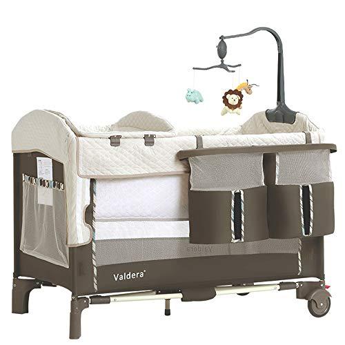 BCB Portable Lit de Voyage bébé pour Parc bébé avec Sac de Transport, Aire de Jeu compacte et Pliante