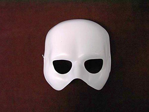 NET TOYS Phantom Maske Weiße Halbmaske Oper Maske Opernmaske Ballmaske Karnevalsmaske Faschingsmaske