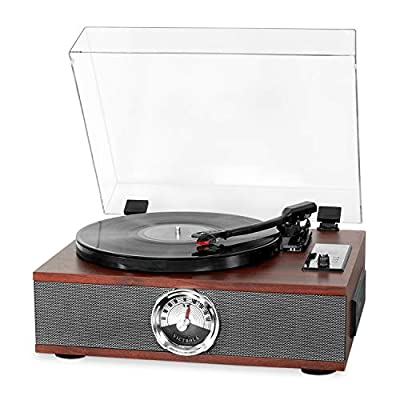 Victrola Park Avenue 5-in-1 Wood Record Player with 3-Speed Turntable, Bluetooth, CD and Radio, Mahogany