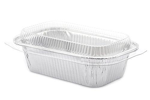 Foil Small Mini-Loaf Bread Pan w/Clear Lid 20 Sets