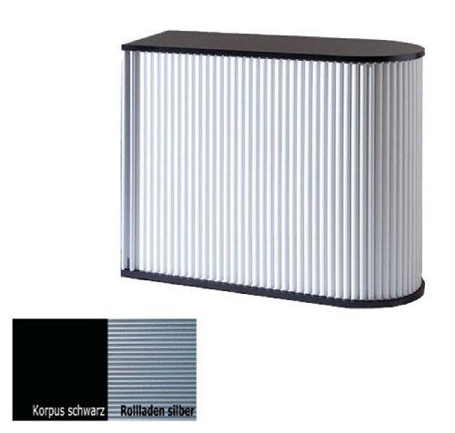 KLENK Collection - Sideboard - Universal-Rollladenschrank schwarz - Silber