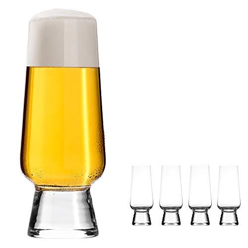 oha-design Craft-Beer-Set [4er Set] Biergläser für Craft-Biere wie Pale Ale, Pils, Wit, Helles - 4-teiliges Craft-Bier-Glas-Set/Tasting Kit - 400-ml, perfekt geeignet für die Neue Welt der Biere