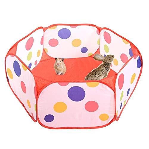 Pequeña Tienda Animales Jaula Valla Transpirable For Mascotas Parque Infantil Abierto Del Estallido Yarda Del Ejercicio Portátil Valla For Conejos Conejillo De Indias De Hámster Baby ( Color : A )