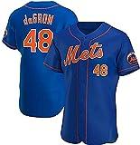 メンズジャージー、ニューヨークメッツのMLB Tシャツ、メジャーリーグベースボールチームのスポーツウェアファンジャージーVネックカジュアル半袖