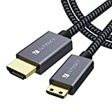 iVANKY Cable Mini HDMI a HDMI 2 Metros, Cable HDMI 4K@60HZ, Compatible con Ultra HD, 3D, Full HD 1080p, HDR, ARC, Alta Velocidad con Ethernet, Dolby TrueHD - Negro