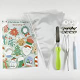 Christmas Cookie Decorating Kit with Scriber, Spatula, Instructional Book, Piping Bags, couplers, and Tips by Autumn Carpenter to Decorate Cookies