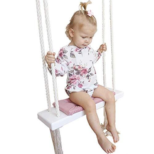 XYFL kinderschommel, kinderkamer decoratie opknoping mand Indoor Solid Vrije tijd Huis Swing Wood Creatieve hennep Touw Speelplaats