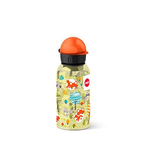 Emsa, Kinder-Trinkflasche, 400 ml, Sicherheitsverschluss, Kids Fox, Tritan, 518124