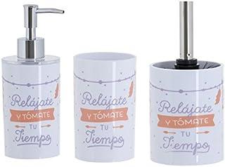 Dcasa - Accesorios de baño Original RELAJATEde PVC para