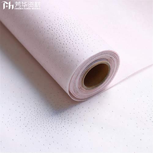 Kang-jz Effen Kleur Waterdicht Inpakpapier, Verpakkingsmaterialen Meestal gebruikt in Bloemenwinkel Zakelijke Geschenken Stip Patroon Decoratie Mooie 0.6 * 10M A