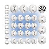 30ud Pack | Organizador de cables de escritorio | Clip sujeta cables con adhesivo para mesa | Ordena cables para oficina | Blanco