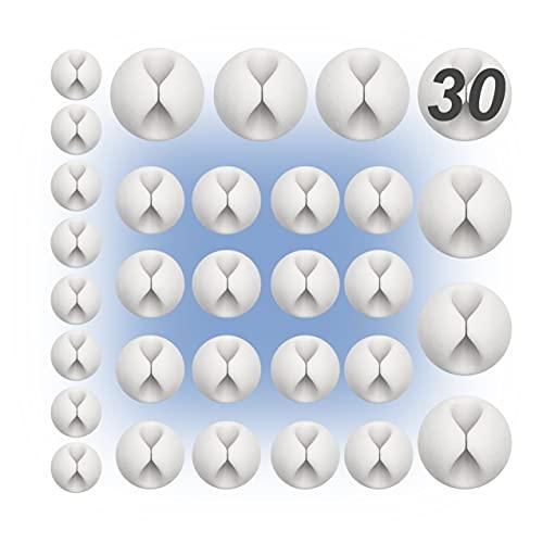 30ud Pack | Organizador de cables de escritorio | Clip sujeta cables...