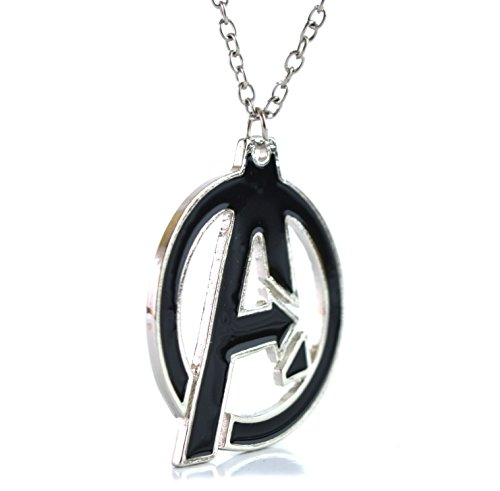Beaux Bijoux Marvel Pendant Avengers Necklace - The Avengers Logo - Super Hero Cosplay Necklace - Mark A - Gift Box Included - Avengers End Game Necklace