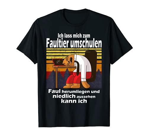 Lustiger Faultier Spruch Mitarbeiter Arbeitskollege T-Shirt