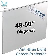 49-50 Pulgadas VizoBlueX Anti Luz Azul Monitor/TV Protector de Pantalla y Panel de protección contra daños - Bloques de luz UV y Azul de 380 a 480 NM. Se Adapta a LCD, HDTV, monitores y Pantallas