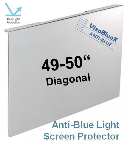 49-50 Zoll VizoBlueX Anti-Blaulicht TV-Bildschirmschutz und Schadenschutz Panel - Blöcke UV-und Blaulicht von 380 bis 480 NM. Passend für LCD, HDTV, Monitore und Displays