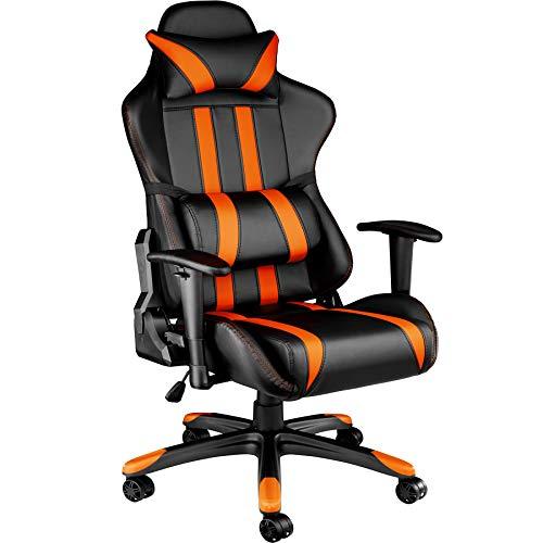TecTake Poltrona sedia direzionale da ufficio racer racing classe di lusso con supporto lombare - disponibile in diversi colori -