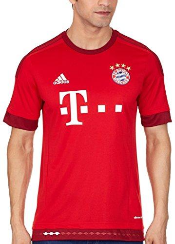 adidas Trikot FC Bayern München Replica Spieler-Heimtrikot Camiseta, Hombre, Blanco/Rojo/Negro, M