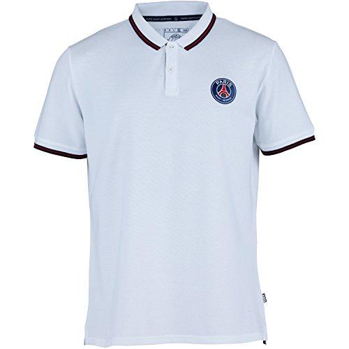 Paris Saint-Germain Herren-Poloshirt, offizielle Kollektion, Erwachsenengröße M weiß