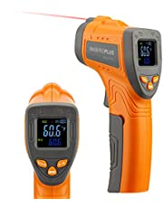 Inkbird INK-IFT01 Infrarood Thermometer, Direct Aflees Laserthermometer voor Koken en Barbecue, Contactloos Digitaal Lasertemperatuurpistool met Instelbare Emissiviteit en Maximale Meting, -50 ℃ ~ 550 ℃