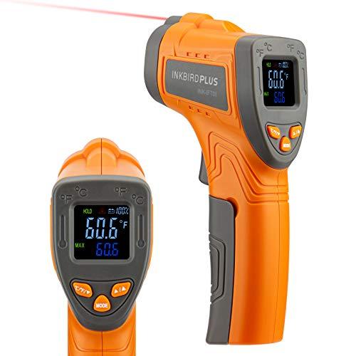 INKBIRD INK-IFT01 Termómetro infrarrojo sin contacto Pistola de temperatura láser digital Emisividad ajustable Medida máxima 550 ℃ Termómetro de lectura instantánea para cocinar Industria automotriz
