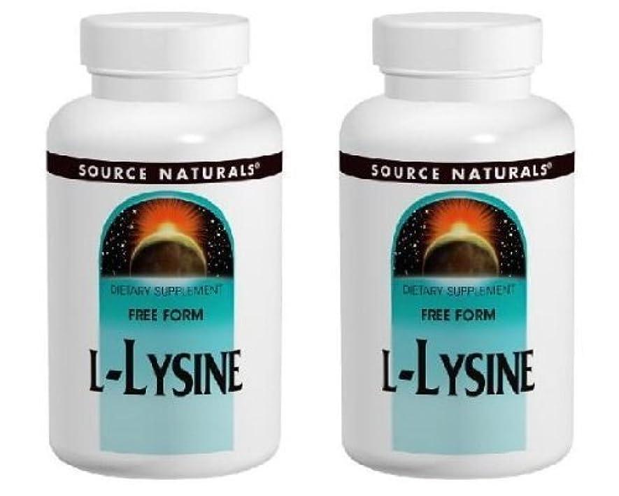 着陸チート強要【2個セット】 [海外直送品] Source Naturals L-リジン 1000mg 100タブレット フリーフォームアミノ酸