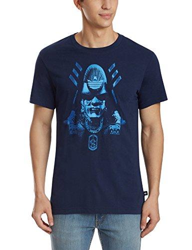 adidas Herren Originals Superstar Street T-Shirt (blau, L)