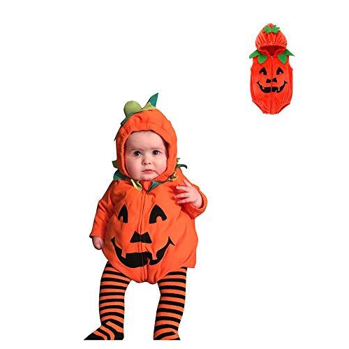 Walabe Halloween/Noel DéGuisement Enfant Fille Cosplay Costume 0-24 Mois Halloween Tirette Citrouille à Capuche De Barboteuse Costume