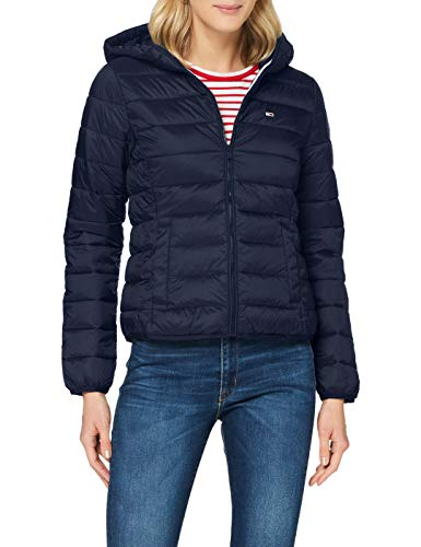 Tommy Jeans Tjw Hooded Quilted Zip Thru Giacca, Blu (Twilight Navy), M Donna