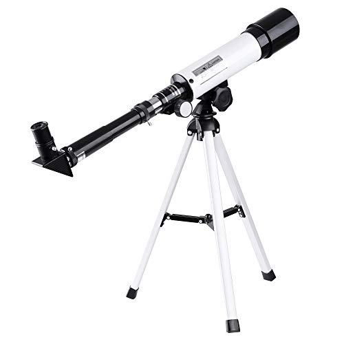 AW 50mm Aperture 360mm Astronomy Refractor Telescope Refractive Spotting Scope Tripod Observation Travel Camp for Kid Beginner