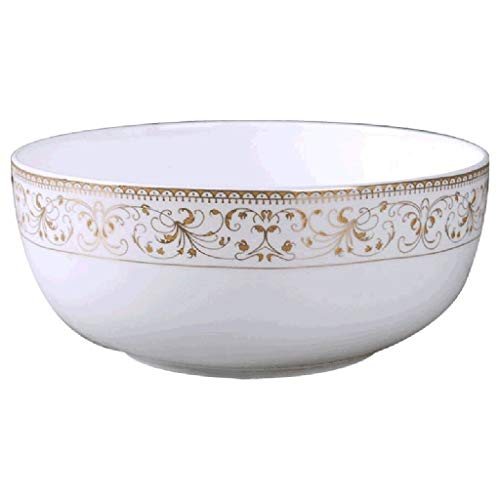 GUOCAO Utensilios de Cocina Plato de Sopa instantánea de Fideos Tazón de cerámica Ensaladera Bone China Beef Noodle Bowl Inicio Superficie de la Taza Casa