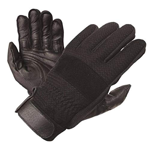 Olympia 150 Airflow I Classic Motorcycle Gloves (Black, Large)