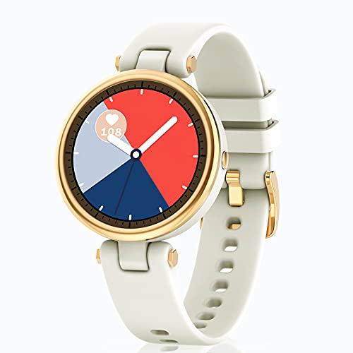 DIKTOYOU Smartwatch Damen, Fitness Tracker Schrittzähler IP67 Wasserdicht Sportuhr mit Pulsuhr Schlafmonitor Armbanduhr für Android iOS