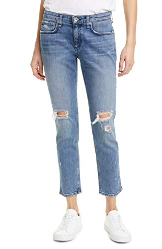 Rag & Bone/JEAN Women's Dre Low-Rise Slim Boyfriend Jeans, Star City, Blue, 23