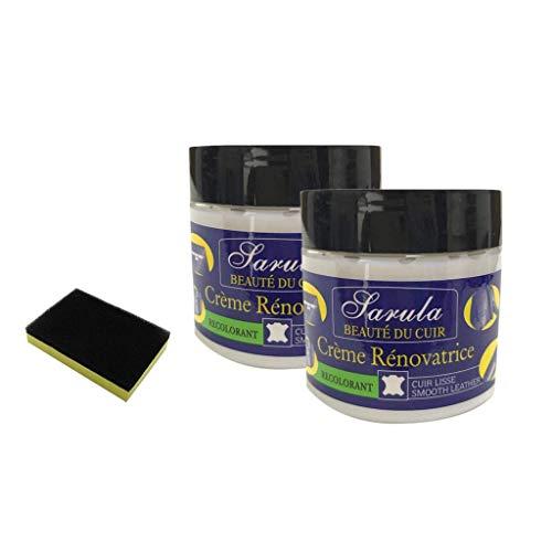 AMhomely® Neu!3 Stück Lederreparatur/PU Creme reparieren Schwammbürste + Reparaturcreme - Lederreparatur-Spachtelmasse für Lederrestaurierungsrisse, Verbrennungen und Löcher (3PC)