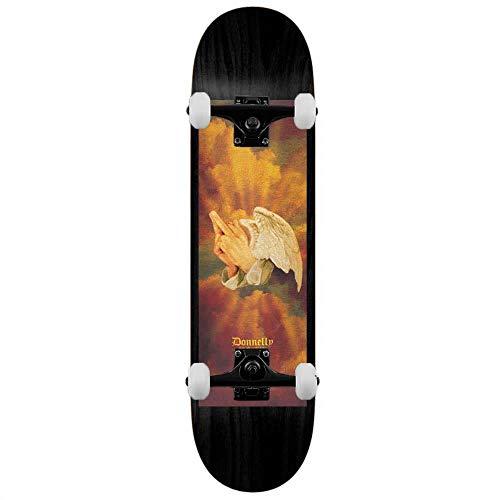 Real Donnelly Pregando Fingers - Skateboard completo, 20,5 cm, colore: Nero